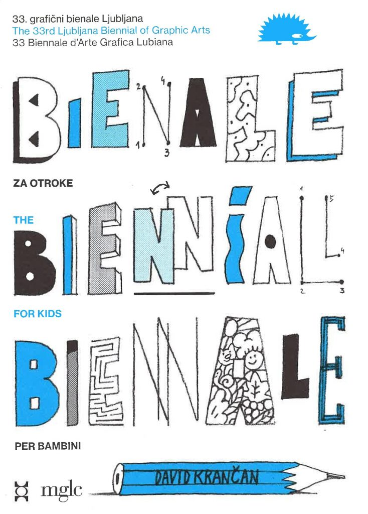 Biennial map for children and families with illustrations by David Krančan